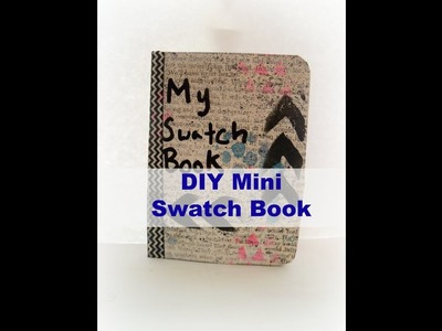 How to make a mini swatch book for art supples. DIY Dollar Store Swatch book
