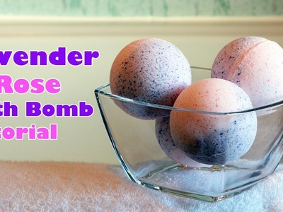 How to Make Bath Bombs - Lavender and Rose - DIY Talk Through Tutorial