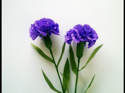 How To Make Carnation Flower From Crepe Paper   Craft Tutorial
