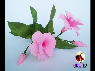 How To Make Mandevilla Double Flowers From Crepe Paper - Craft Tutorial