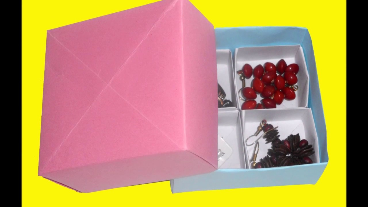 How To Make Paper Jewellery Box Craft Origami Work For Beginners