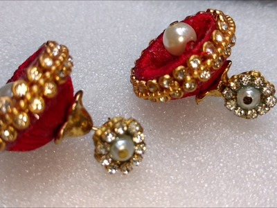 How to make silk thread jhumkas | DIY silk thread earrings, silk thread jhumkas tutorial