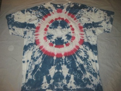 How to tye dye a capt  america