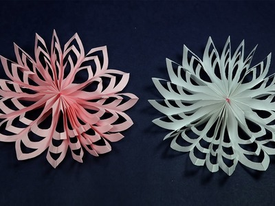 Paper Snowflakes Christmas Craft   How to Make Paper Snowflakes Quickly