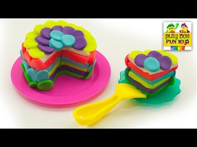 Play Doh Birthday Cake Party Dessert Playdough Art and Craft Modelling Clay Fun Cooking for Kids