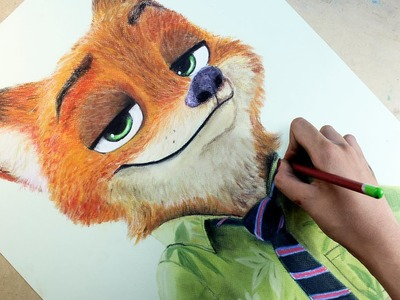 Speed Drawing: Nick Wilde (Zootopia) | Diana Díaz