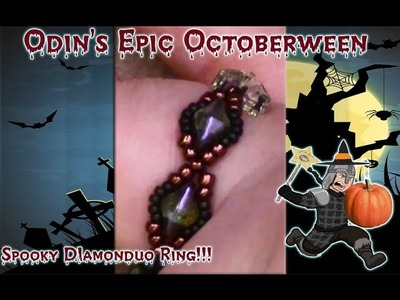 Spooky Lessons With Odin: Diamonduo Beaded Ring Band DIY Jewelry Tutorial
