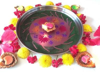 "Tutorial to make ""Under water Rangoli"" for Diwali - DIY | Handmade"