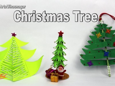 3 Paper Christmas Tree | DIY How to make Christmas decorations | JK Arts  1131