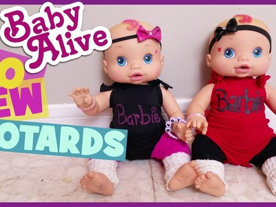 BABY ALIVE NO SEW LEOTARDS!! | DIY Doll Clothes 15 to 18"