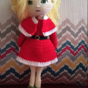 Christmas Girl Amigurumi Crochet Pdf Pattern