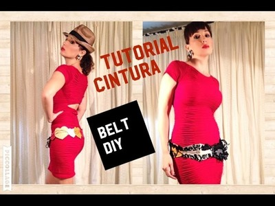 Come realizzare una CINTURA IN PELLE -- DIY How to make a LEATHER BELT - Tutorial by Diana Toto