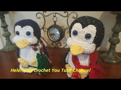 Crochet Quick Easy Amigurumi Christmas Penguin DIY Tutorial