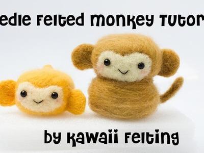 Cute Monkey Needle Felting Video | Hamanaka Needle Felt Kit by Kawaii Felting