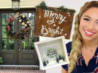D.I.Y. CHRISTMAS DECOR 2016 | 3 EASY HOME DECOR PROJECTS | Alexandra Beuter
