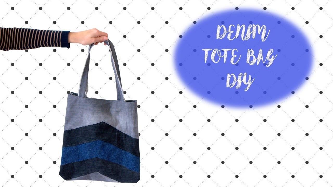 Denim Patchwork Tote Bag DIY   MVD