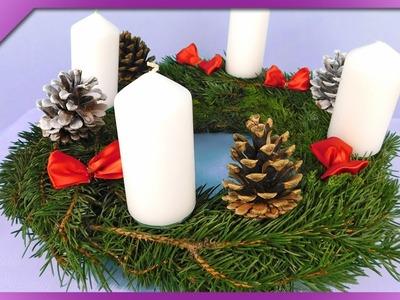 DIY Advent wreath (ENG Subtitles) - Speed up #276