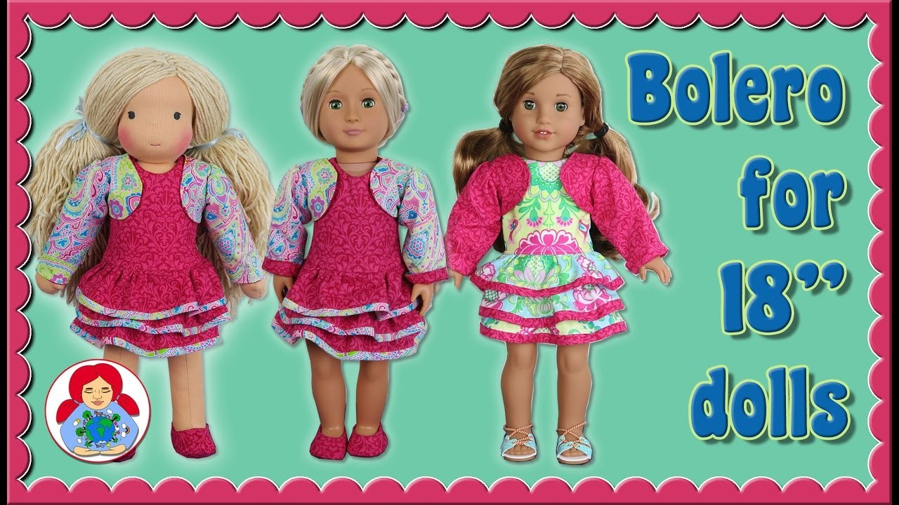 "DIY | Bolero for 18"" dolls (American Girl, Sami Pattern AMELIE etc.) • Sami Doll Tutorials"