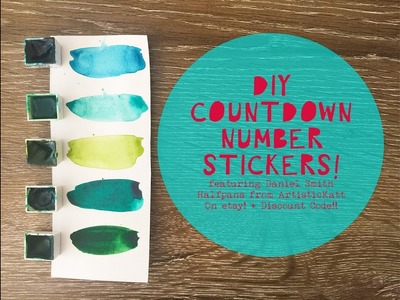 DIY Christmas Countdown Numbers ft Daniel Smith Watercolours