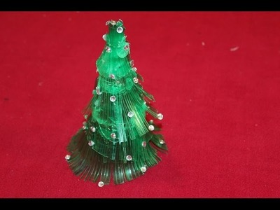 DIY Christmas crafts: CHRISTMAS TREE recycling a plastic bottle