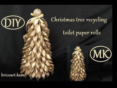DIY.Christmas tutorial.How to.Christmas tree recycling toilet paper rolls: bricoart.kam