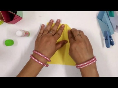 DIY - Easy Paper Folding Technique to make Pen Stand at Home