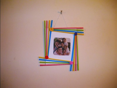 DIY Easy Photo Frame (Birthday gift idea. Room decoration) Made with Colorful Paper