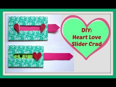 DIY|Heart Love Slider Card|Explosion Box|Crafty with RJNI