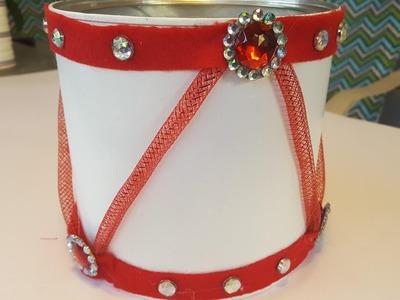 DIY Holiday Drum Centerpiece - Christmas Crafts