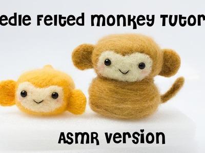 DIY Kawaii Monkey Tutorial | ASMR Needle Felting Video | Hamanaka Needle Felting Kit