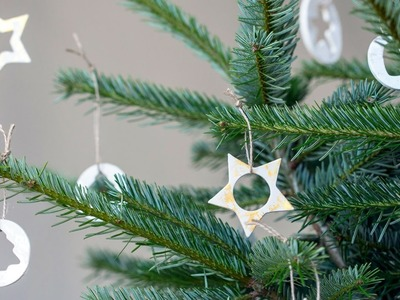 DIY: Make Christmas ornaments from air-drying clay by Søstrene Grene