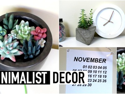 DIY Minimalist Style Room Decor (Tumblr.Aesthetic Inspired) | Natasha Rose