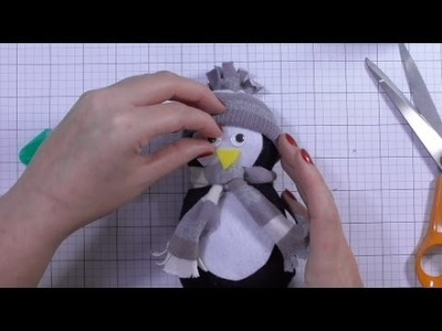 DIY No Sew Sock Penguin