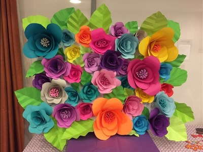 DIY Paper Flower Backdrop - Part 2.2
