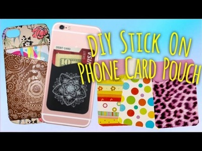 DIY Phone Card Holder From Duct Tape