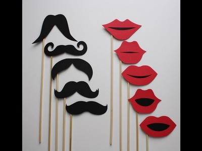 DIY: Photo booth and Props for (Cute Party Decorations)
