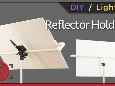 DIY Photography Studio Reflector Holder and One Light Portrait Lighting Tutorial