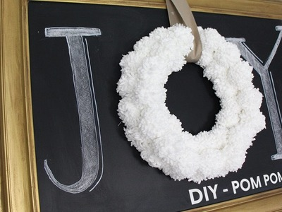 DIY Pom Pom Wreath (Anthropologie Inspired)  Corona de Pompones