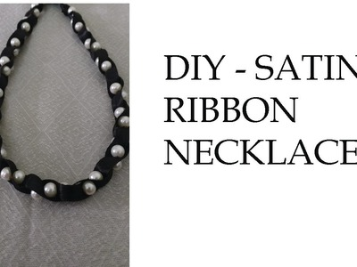DIY Ribbon necklace. How to make ribbon necklace k-creations -2