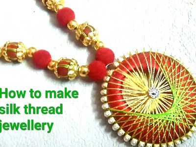DIY Tutorials| how to make silk thread  NECk PICECE