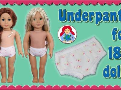 "DIY | Underpants for 18"" dolls (American Girl, Sami Pattern AMELIE etc.) • Sami Doll Tutorials"