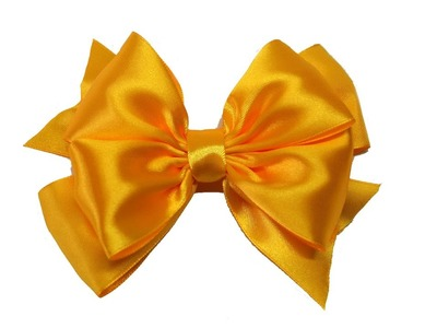 Do it yourself - How to make easy bow of satin ribbon. DIY beauty and easy