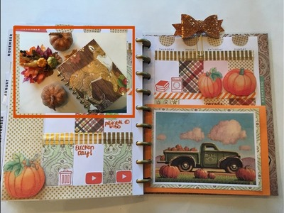 DOLLAR TREE FOX Planner Cover DIY + PUMPKIN TRUCK Weekly Spread