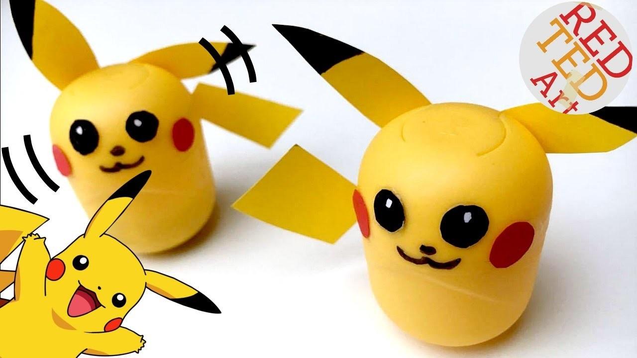 Easy Pikachu DIY - Pikachu Ornament or Weeble