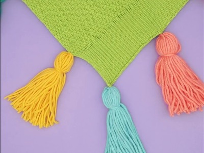 How to DIY Blanket Tassels