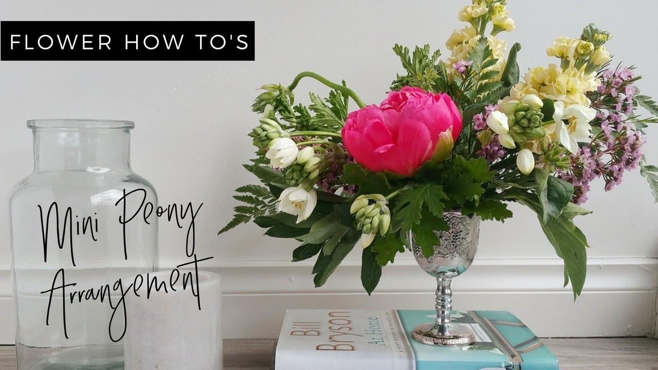 HOW TO: DIY Mini Peony Arrangement