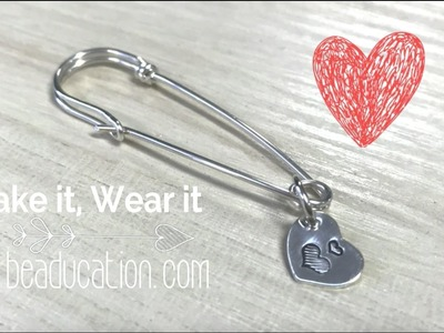 How to Make a Wire Safety Pin - Tutorial DIY Jewelry