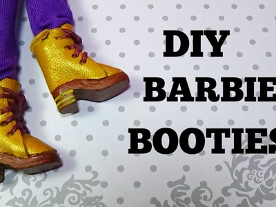 How to make boots for Barbie DIY For Dolls booties