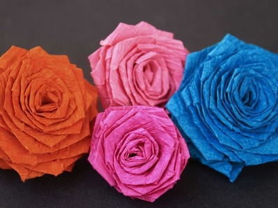 How to make Paper Roses In DIY Paper Crafts By SrujanaTV