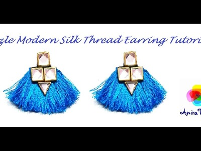 How to make Silk thread Tassle Earring Modern Earring - Easy DIY Tutorial